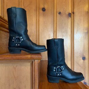 Women's Molly Harness Black Moto Boots size 8
